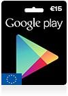 Google Play 15 EUR