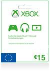XBOX Live 15 EUR